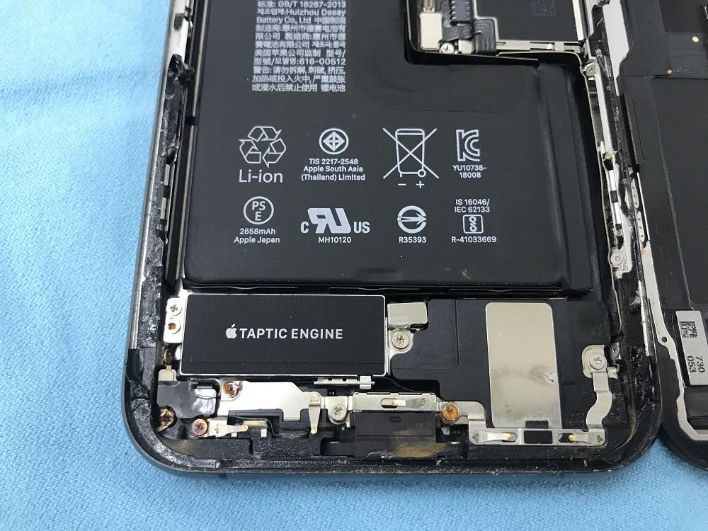iPhoneXS水没 内部
