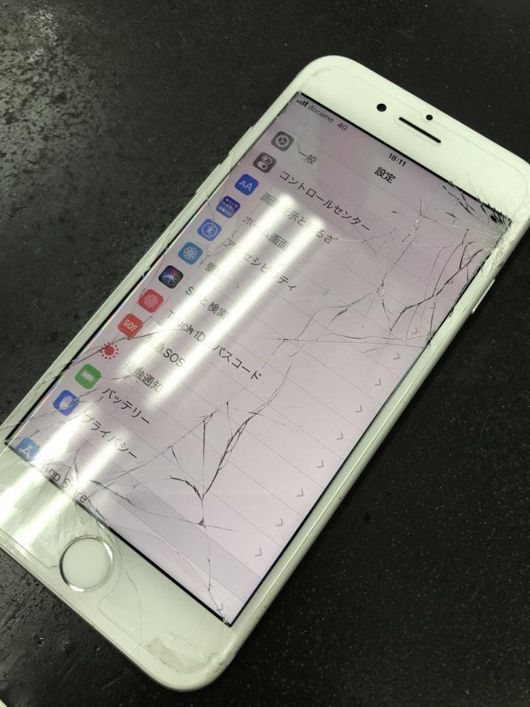 iPhone7画面修理 前