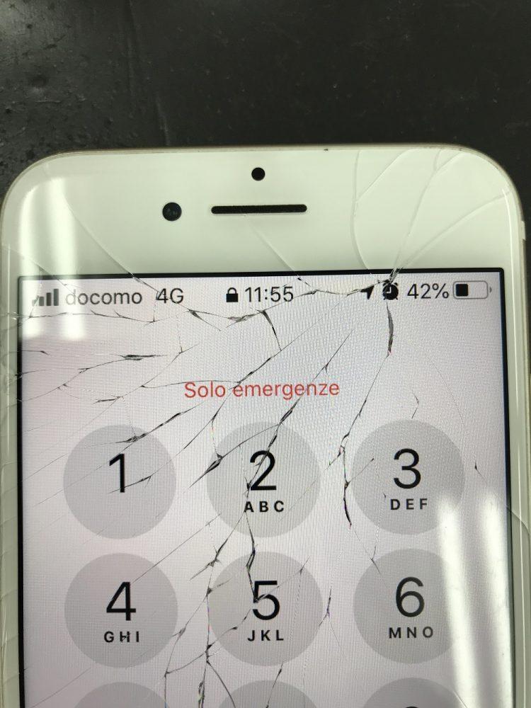 iPhone7画面修理 修理前