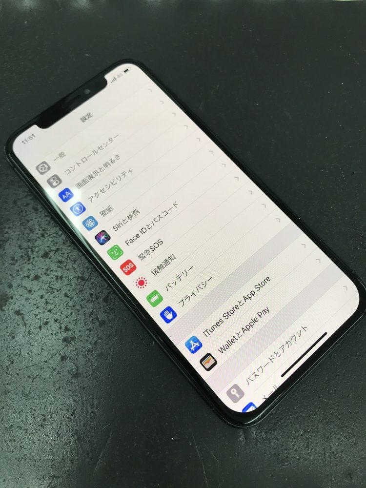 iPhoneX画面交換修理 写真4