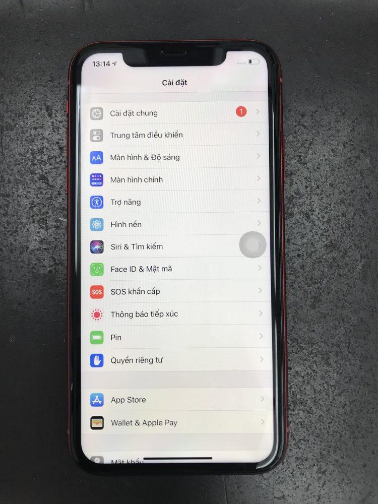 iPhone11 画面交換後