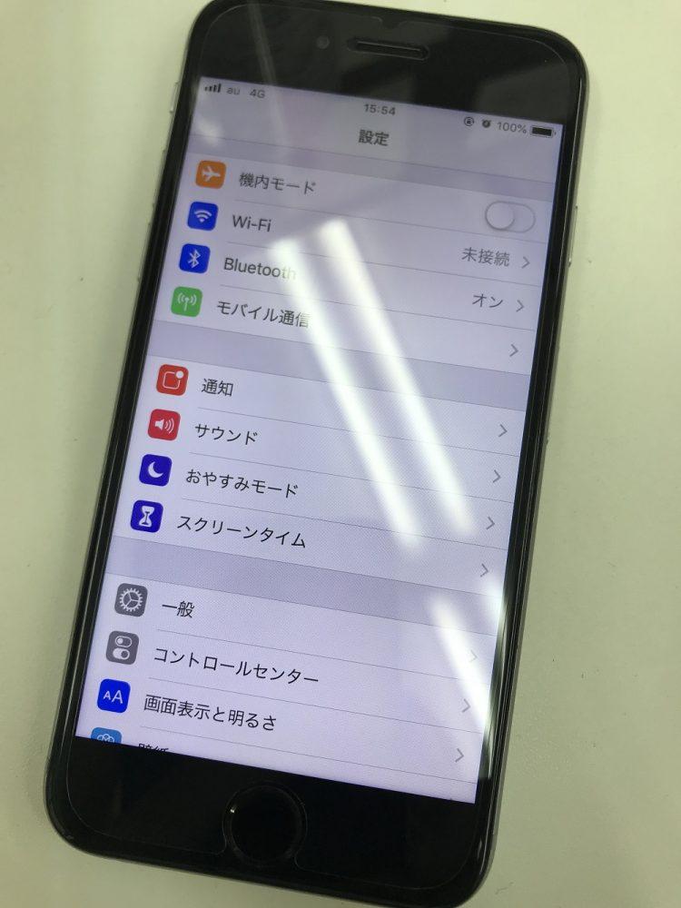 iPhone6 水没復旧後