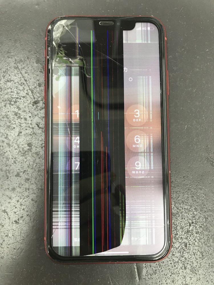 iPhoneXR液晶画面交換修理前