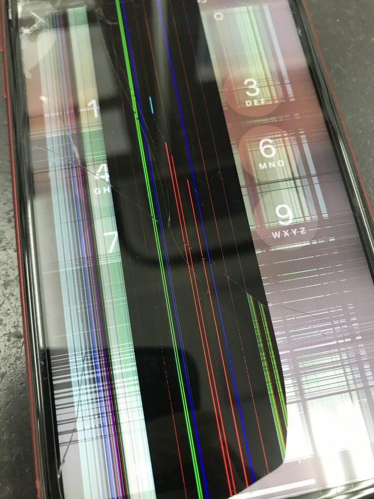 iPhoneXR液晶画面交換修理前写真2