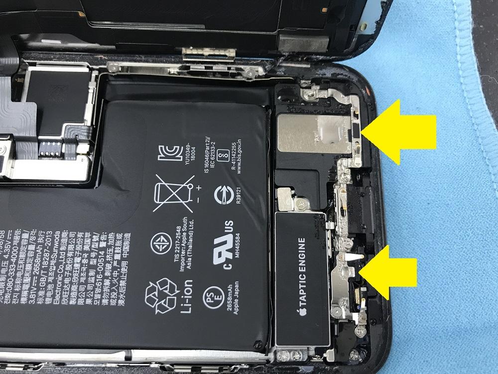 iPhoneXS水没 本体内部 写真2