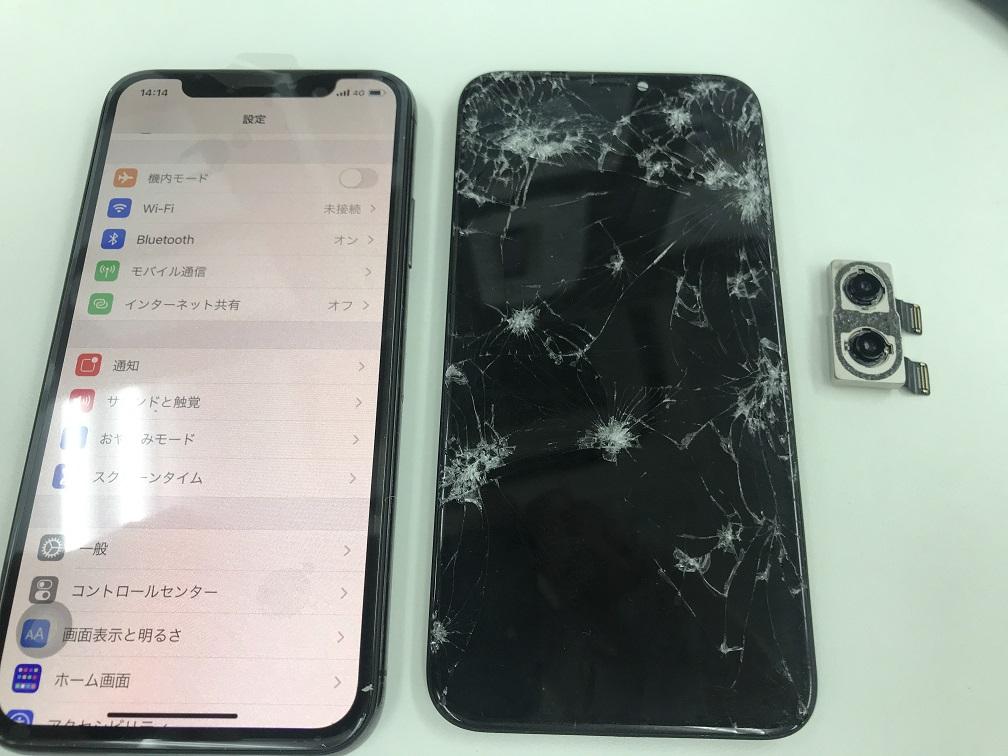 iPhoneX 液漏れ カメラ 修理後