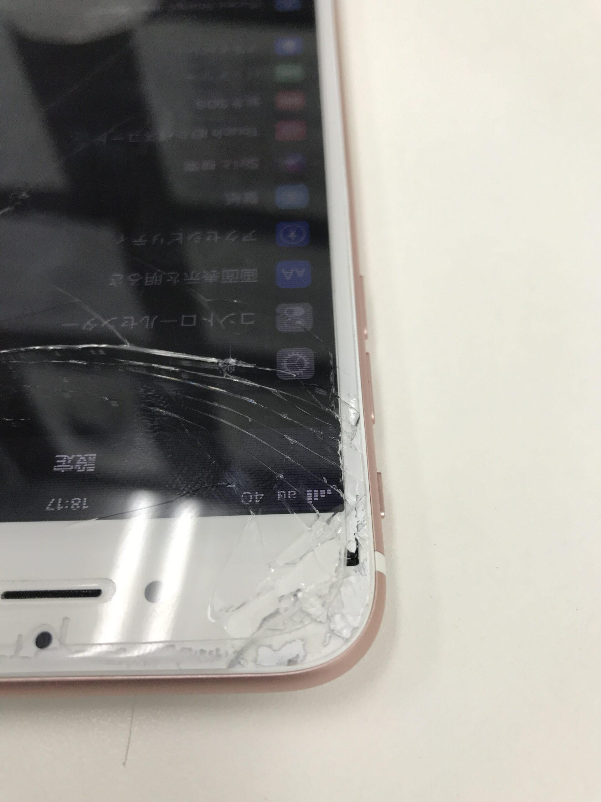 iPhone7 画面割れ 修理前